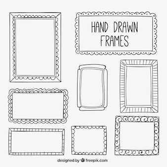 Raccolta del telaio disegnato a mano