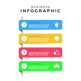 Raccolta di banner infografici