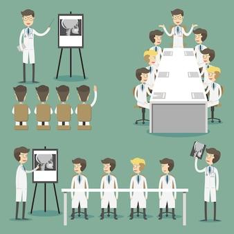 Raccolta di caratteri di riunione medica