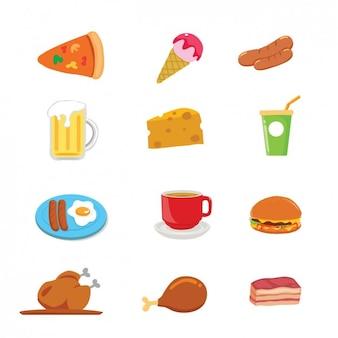 raccolta di cibo e bevande disegni