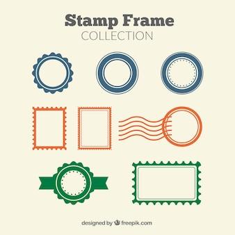 Raccolta di cornici di francobolli