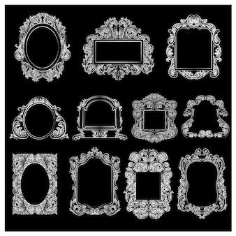 Raccolta di cornici ornamentali