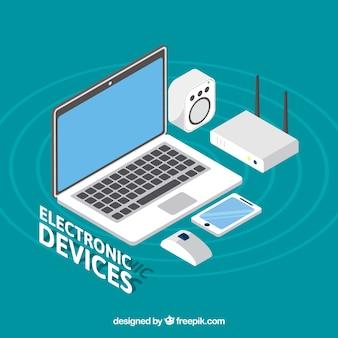 Raccolta di dispositivi elettronici