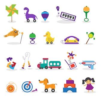 Raccolta di giocattoli per bambini
