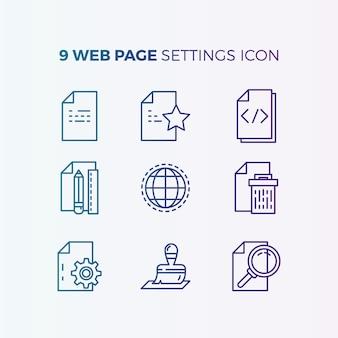 Raccolta di icone del sito web