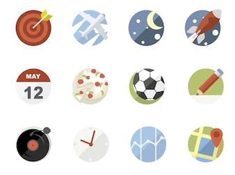 Raccolta di icone di applicazioni per telefoni cellulari