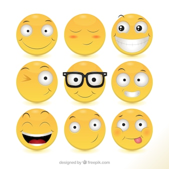 Raccolta di icone Happy
