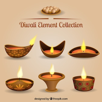 Raccolta di lampade Diwali