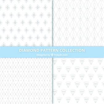 Raccolta di modelli di diamanti