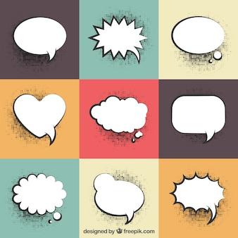 Raccolta di palloncini di dialogo con effetto mezzetinte