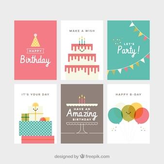Raccolta di schede di compleanno