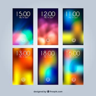 Raccolta di sfondi colorati sfocati per il cellulare