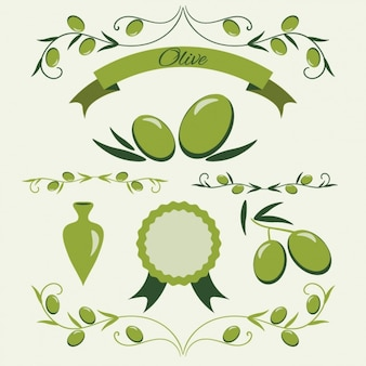 Raccolta distintivo verde oliva