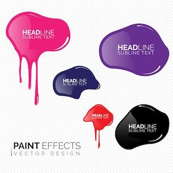 Raccolta effetti vernice