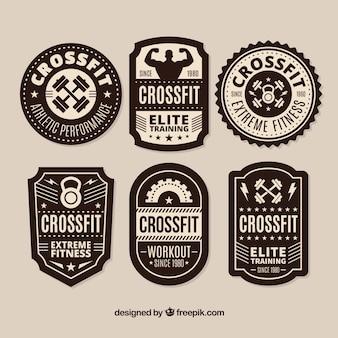 Raccolta etichetta CrossFit in bianco e nero