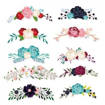 raccolta ornamenti floreali