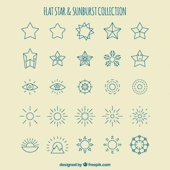 Raccolta stella e la decorazione solarizzazione