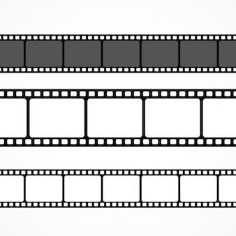 Raccolta vettore striscia di pellicola in diverse dimensioni