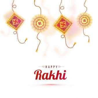 Rakhi decorativo tradizionale per felice Raksha Bandhan.