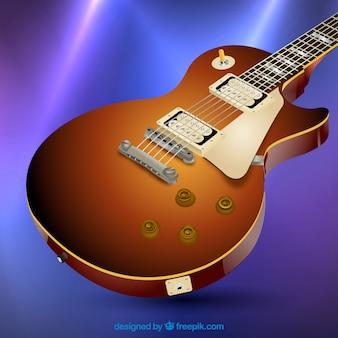 Realistico sfondo chitarra elettrica