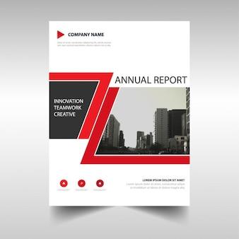 Red copertura astratto relazione annuale
