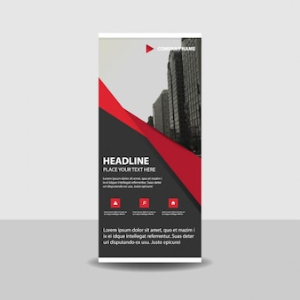 Red creativo roll up banner template