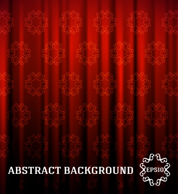 Red ornamentali curtain background