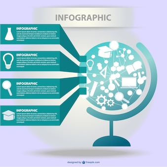 Rete globale scienza infografica