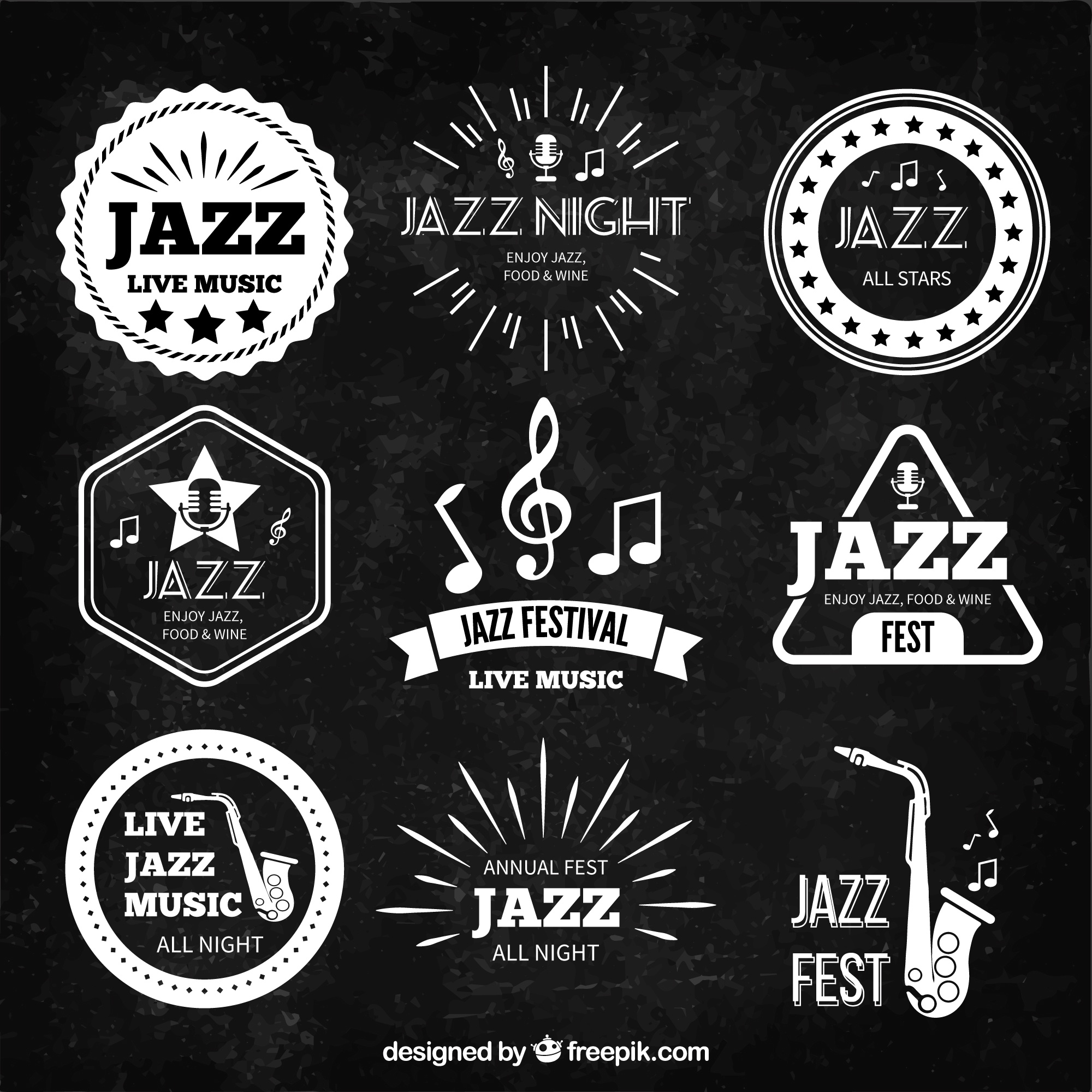 Retro badge musica jazz