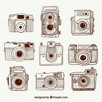Retro collezione di fotocamere vintage vintage