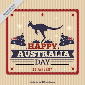 Retro in Australia day background
