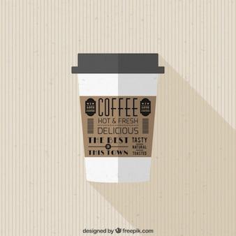 Retro tazza di caffè