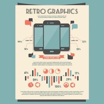 retrò Vector set di elementi infographic