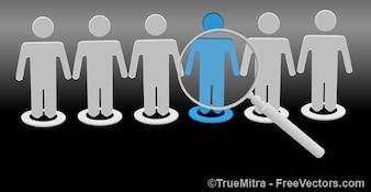 Ricerca unico persona silhouette icone