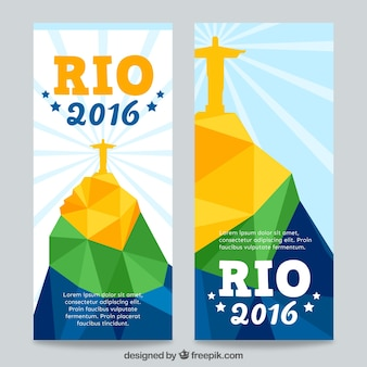 Rio 2016 striscioni con Cristo Redentore