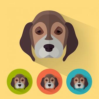 Ritratto di animali del cane
