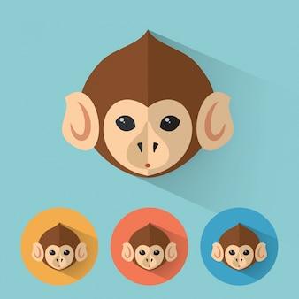 Ritratto di animali di scimmia