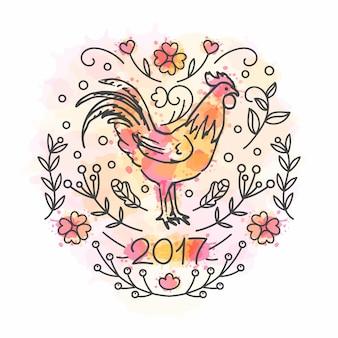 Rooster anno sfondo