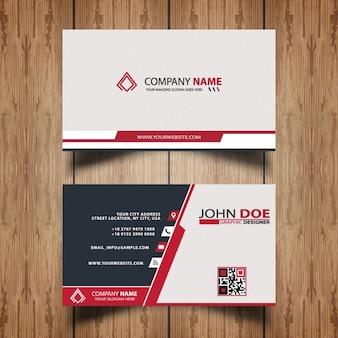rosso elegante modello di business card