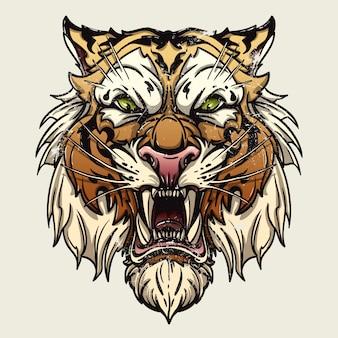 Saber dentata tigre