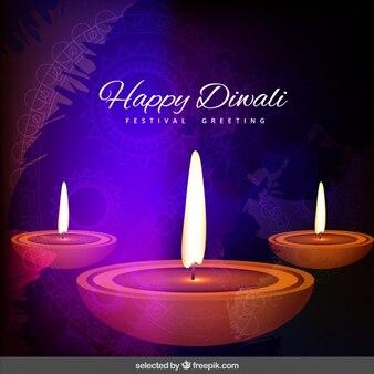Saluto Diwali con tre fiamme