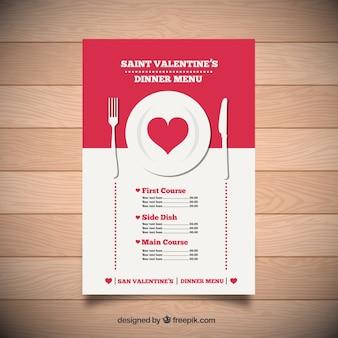 San menù cena di San Valentino