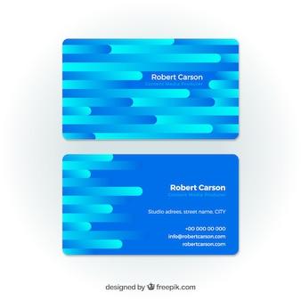 Scheda aziendale blu astratta