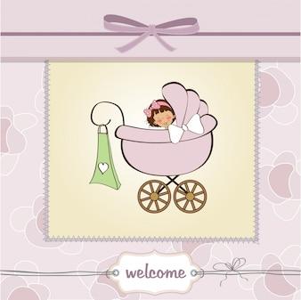 Scheda di annuncio della neonata