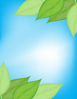 Scheda di natura verde e blu