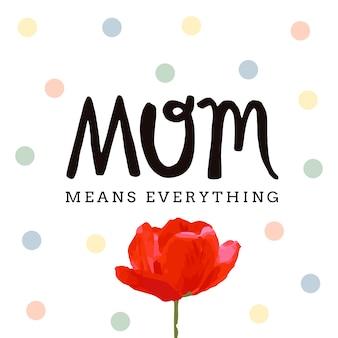 Scheda felice di giorno di madri