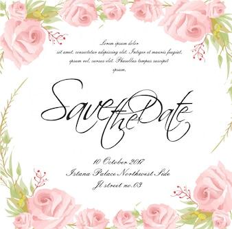 Scheda matrimonio con cornice floreale