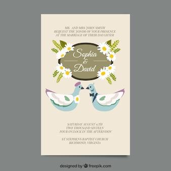 Scheda matrimonio elegante