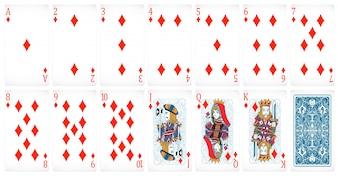 Schede di poker set di club con design posteriore