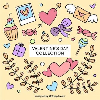 Schizzi cose giorno di San Valentino